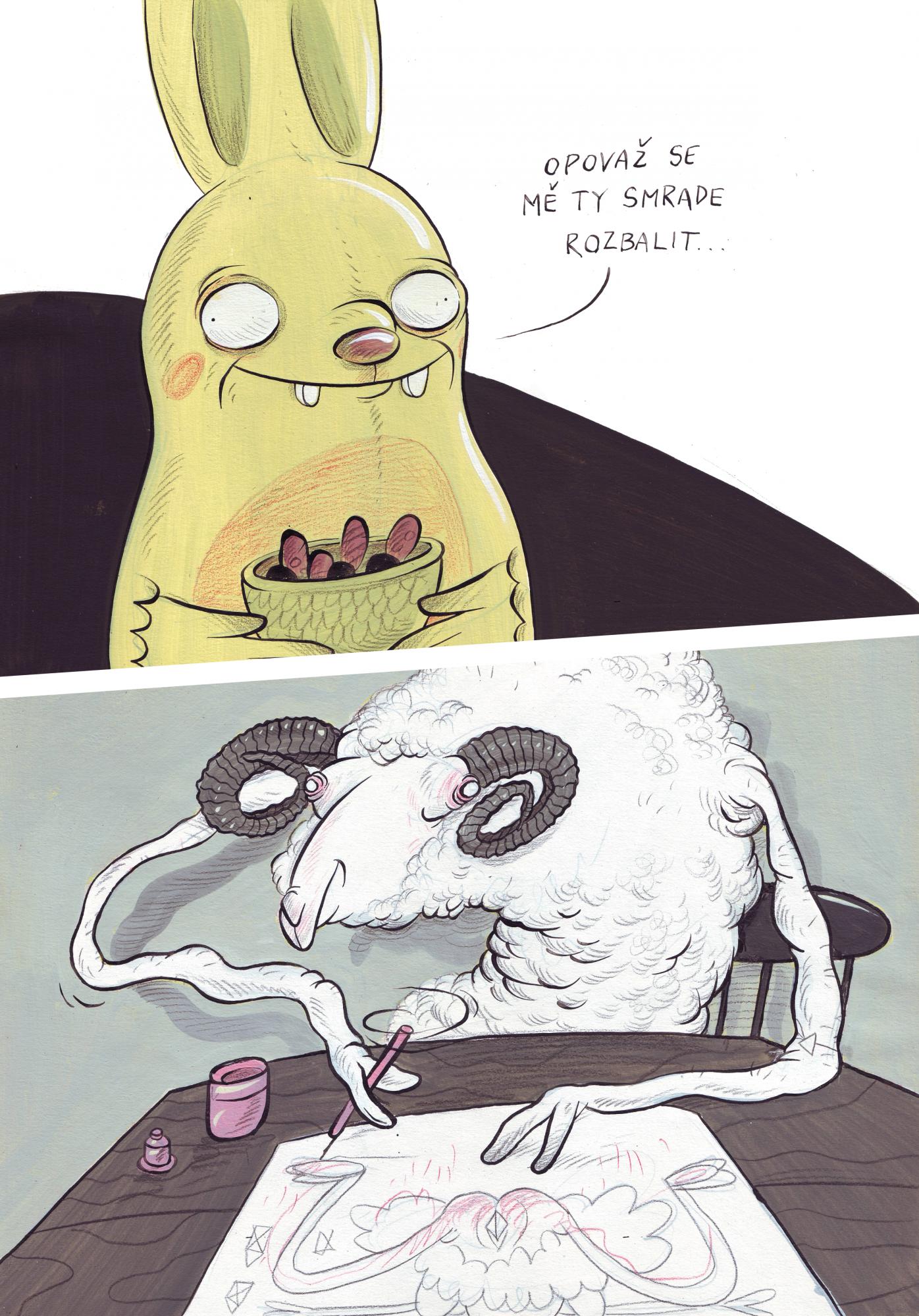 Ilustrace do rozhovoru pro redbull - vykresli se